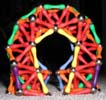 Front view of a fat arch built of Magz magnetic construction toys