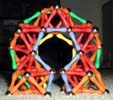 Back view of a fat arch built of Magz magnetic construction toys