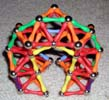 Upper front view of a fat arch built of Magz magnetic construction toys