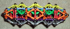Top view of an ornate arch build of Mags magnetic construction toys