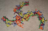 Another view of wreck of triskelion bridge built of Magz magnetic construction toys